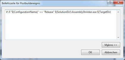 Screenshot do Assembly-Shrinker