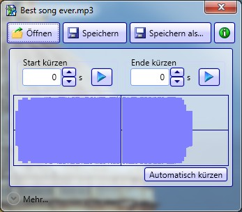 Capture d'écran de mp3trim