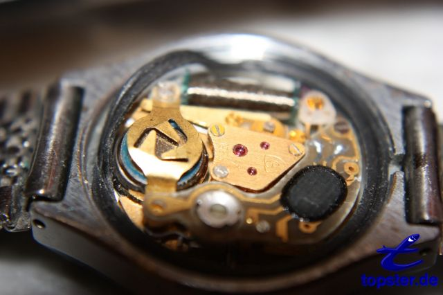 Inside a clock