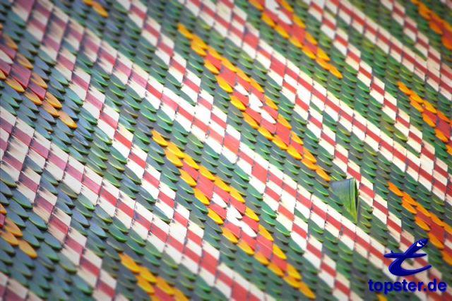 Tuiles colorées