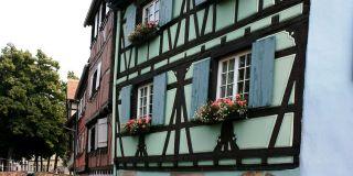 Fasady domów w mieście Colmar