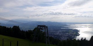 Views of the Pfänder mountain on Lake Constance