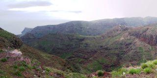 Bjergrige landskab La Gomera